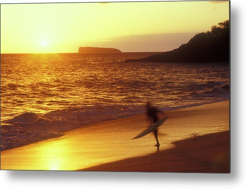 Hawaii Metal Print featuring the photograph Big Beach Surfer by John Burk