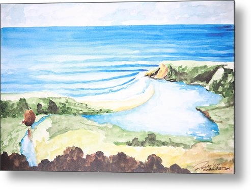 Surf Metal Print featuring the painting Bluebird by Ronnie Jackson
