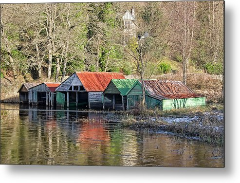 Loch Metal Print featuring the photograph Boat Huts by Sam Smith