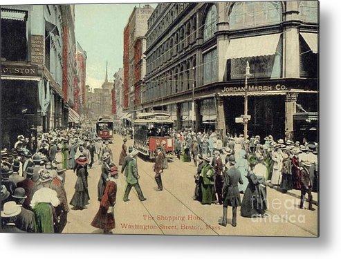 1910 Metal Print featuring the photograph Boston: Washington Street by Granger