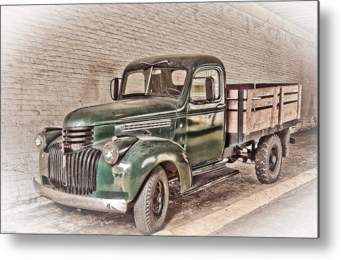 Truck Metal Print featuring the digital art Chevy Truck by Ches Black