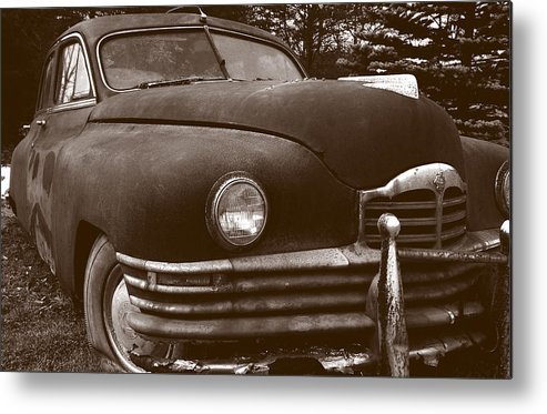 Old Car Metal Print featuring the photograph Chocolate Moose by Jean Macaluso