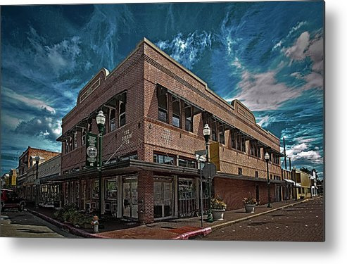 Hdr Color Photography Metal Print featuring the photograph Corner Pub by Wayne Denmark