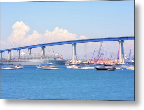Harbor Metal Print featuring the photograph Coronado Blue by Joseph S Giacalone