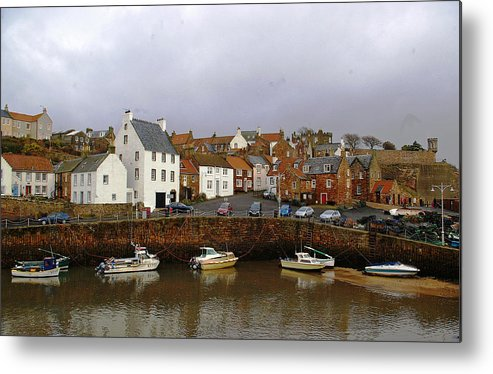 Fishing Village Metal Print featuring the photograph Crail Harbour Fife by Veron Miller