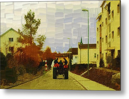 Landscape Metal Print featuring the photograph End Of Day by Chuck Shafer