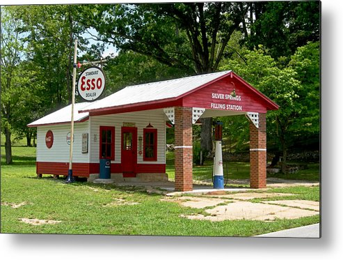 Esso Filling Station Metal Print featuring the photograph Esso Station by Greg Joens