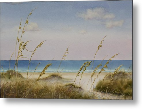 Beach Metal Print featuring the painting Folly Beach by Cindy Davis