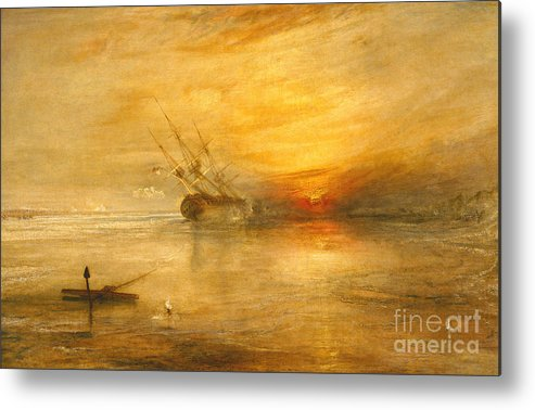 Fort Metal Print featuring the painting Fort Vimieux by Joseph Mallord William Turner
