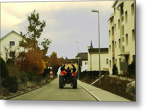 Swiss Scene Metal Print featuring the photograph Going Home by Chuck Shafer