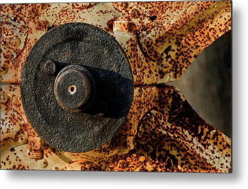 Iron Metal Print featuring the photograph Gray Wheel by Murray Bloom