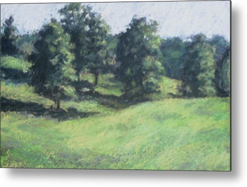Landscape Metal Print featuring the painting High Summer Pasture by Dolores Holt