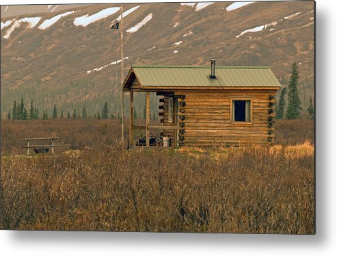 Log Cabin Metal Print featuring the photograph Home Sweet Fishing Home In Alaska by Denise McAllister