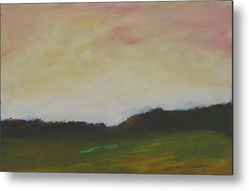 Abstract Metal Print featuring the painting Humid Morning by Wynn Creasy