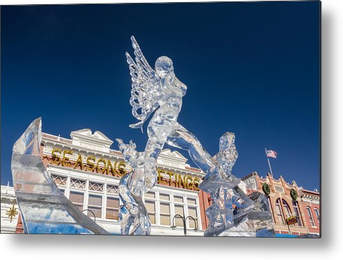 Ice Formations Metal Print featuring the photograph The Annual Ice Sculpting Festival In The Colorado Rockies, The Allure Of A Siren by Bijan Pirnia