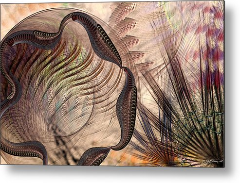 Abstract Metal Print featuring the digital art Incomprehension by Casey Kotas