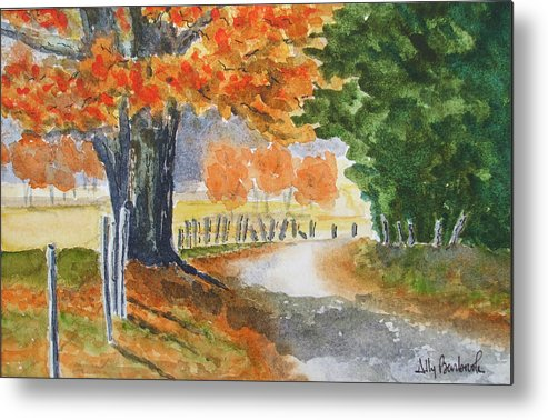 Autumn Metal Print featuring the painting Indian Summer by Ally Benbrook
