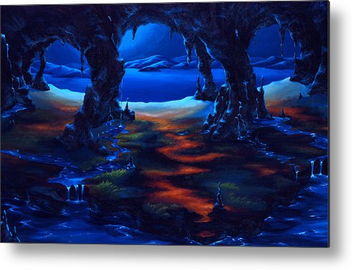 Textured Painting Metal Print featuring the painting Living Among Shadows by Jennifer McDuffie