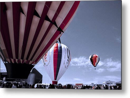Balloons Metal Print featuring the photograph Lots Of Hot Air by BuffaloWorks Photography