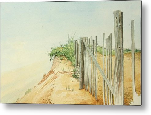 Landscape Metal Print featuring the painting Marconi Beach by Stephen Bluto