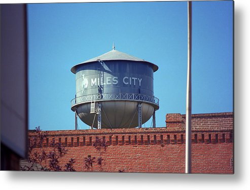 America Metal Print featuring the photograph Miles City, Montana - Water Tower by Frank Romeo