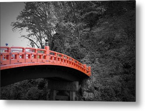 Nikko Metal Print featuring the photograph Nikko Red Bridge by Naxart Studio