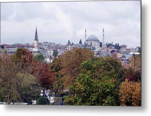 Inna Nedzelskaia Metal Print featuring the photograph Nostalgia Of The Autumn In Istanbul by Inna Nedzelskaia