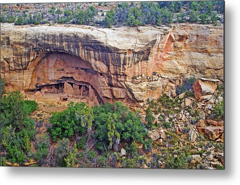 Landscape Metal Print featuring the photograph Oak Tree House - Mesa Verde National Park by Glenn Smith