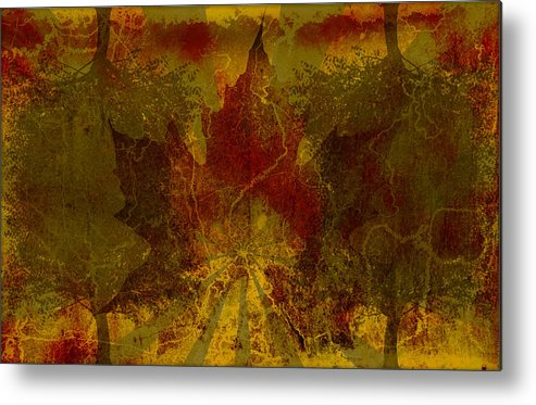 Nature Metal Print featuring the digital art Ok Fall by Shawn Ross