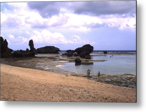 Okinawa Metal Print featuring the photograph Okinawa Beach 18 by Curtis J Neeley Jr