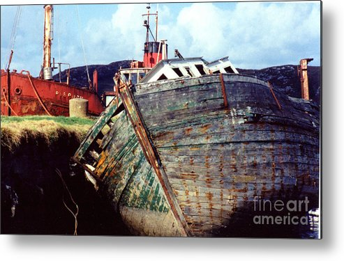 Old Boat Metal Print featuring the photograph Old Boat by PJ Cloud