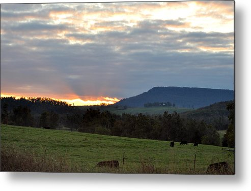 Sunsets Metal Print featuring the photograph Peaceful Evening by Jan Amiss Photography