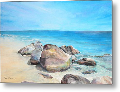 Paysage Metal Print featuring the painting Plage by Muriel Dolemieux