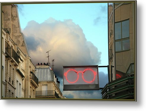 Paris Metal Print featuring the photograph Questions? by Guy Ciarcia