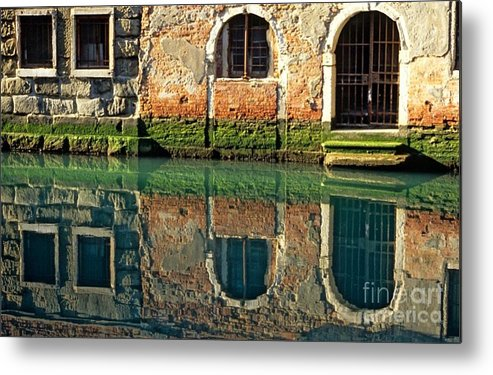 Venice Metal Print featuring the photograph Reflection On Canal In Venice by Michael Henderson