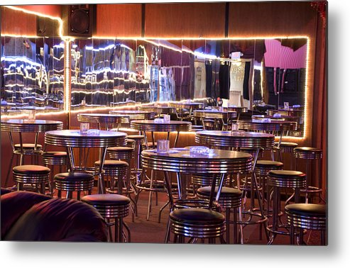 Club Metal Print featuring the photograph Retro by Jessica Wakefield