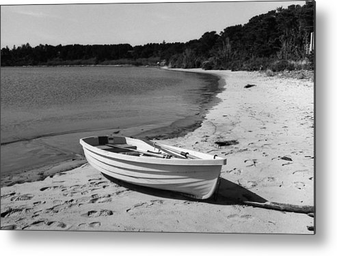35mm Metal Print featuring the photograph Rowboat On The Beach by HW Kateley