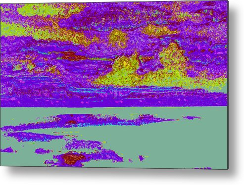Metal Print featuring the digital art Sky Water D4 by Modified Image