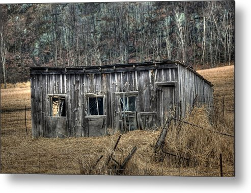 Rcouper Metal Print featuring the photograph Small Farm Shed by Rick Couper