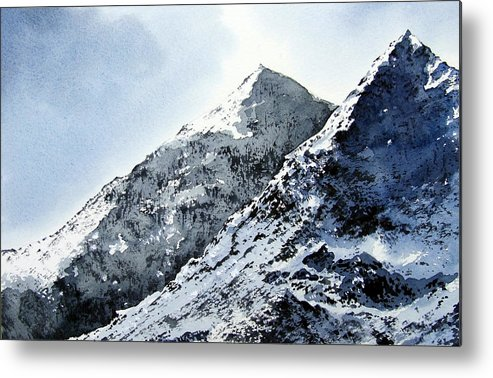 Snowdon Metal Print featuring the painting Snowdon by Paul Dene Marlor