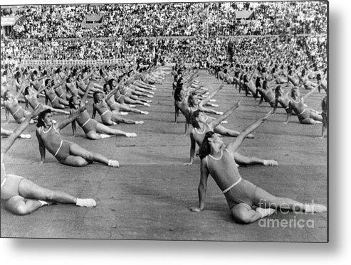 1947 Metal Print featuring the photograph Soviet Union: Gymnasts by Granger