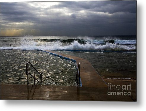 Storm Clouds Collaroy Beach Australia Metal Print featuring the photograph Stormy Morning At Collaroy by Sheila Smart Fine Art Photography