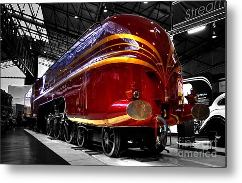Red Metal Print featuring the photograph Streamlined For Speed by Rob Hawkins