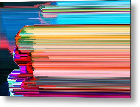 Abstract Metal Print featuring the photograph Stretch by Lyle Crump