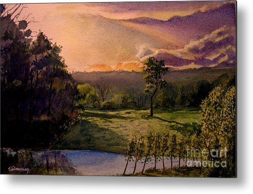 Forest Metal Print featuring the painting Sunrise At L Hermitiere by Christian Simonian