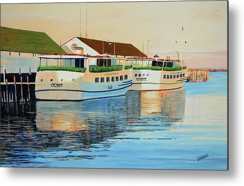 Mackinac Island Metal Print featuring the painting Sunset On Mackinac by Keith Grindall