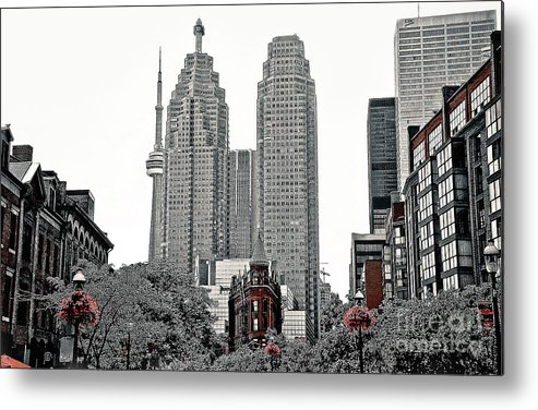 City Metal Print featuring the photograph City Of Torpnto by Elaine Manley