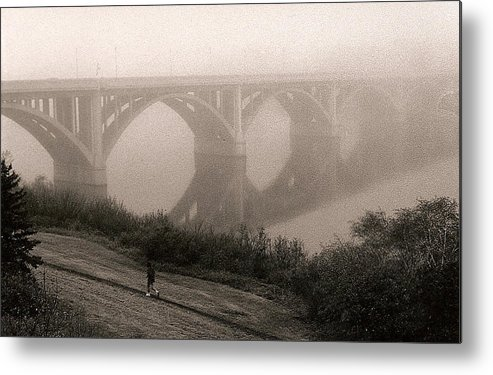 Nature Metal Print featuring the photograph The Jogger by Arnold Isbister