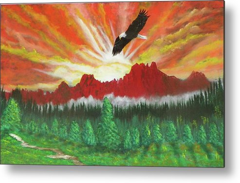 Acrylic Metal Print featuring the painting They That Wait Upon The Lord  Isa 40 31 by Laurie Kidd