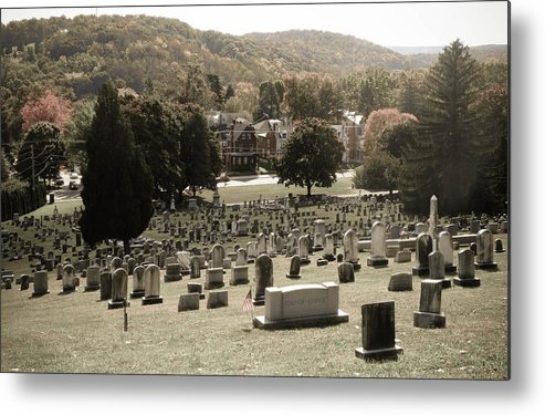 Grave Metal Print featuring the photograph Top Of The Hill by Trish Tritz